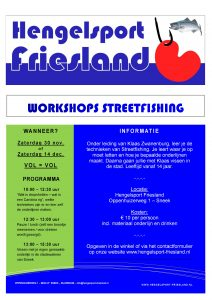 WORKSHOP STREETFISHING @ Hengelsport Friesland